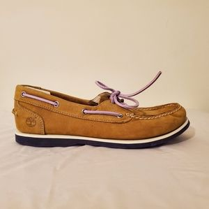 Rare Tan and Purple Women's Timberland Boat Shoes